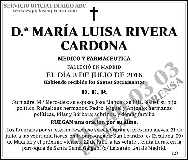 María Luisa Rivera Cardona